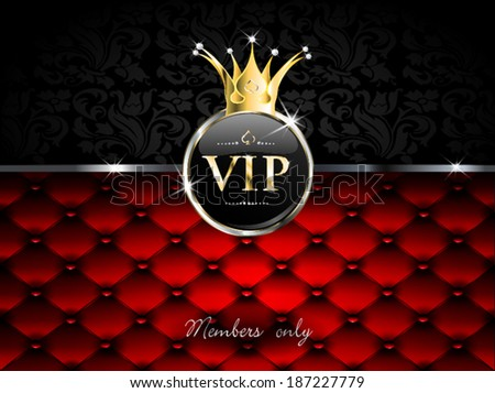 golden vip with crown and