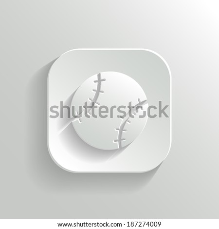 baseball icon   vector white