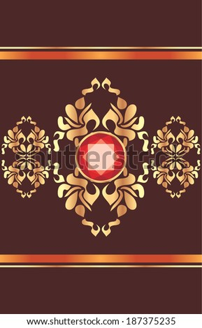shining golden ornament with