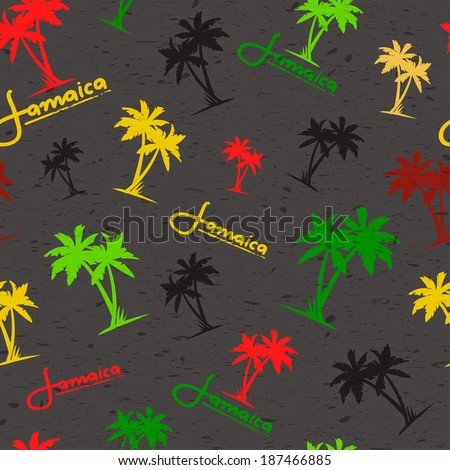 seamless pattern with palms in