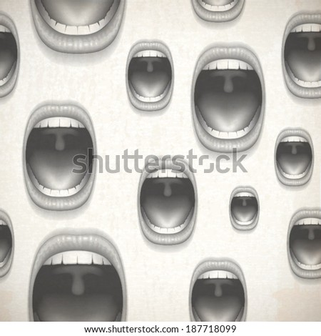 open mouths background