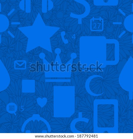 flat vector abstract seamless