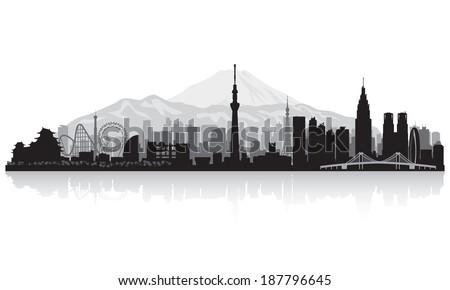 tokyo japan city skyline vector