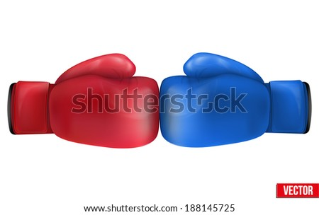 two boxing gloves in collision