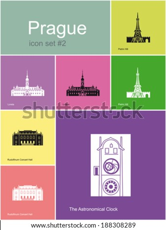 landmarks of prague set of