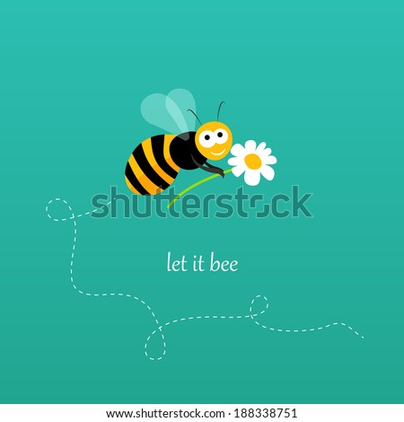 apology card with a bee holding