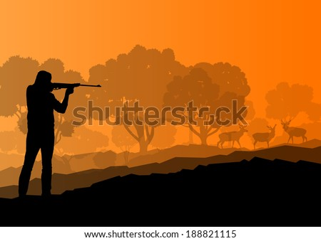 hunter silhouette background