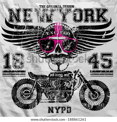 motorcycle skull new york fun