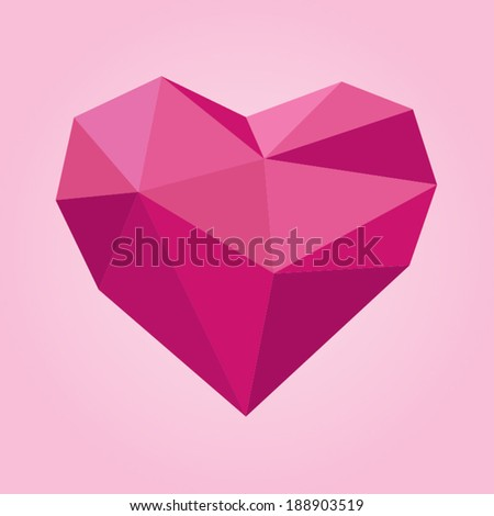 geometric polygonal heart shape