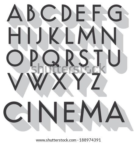 retro vector font vintage