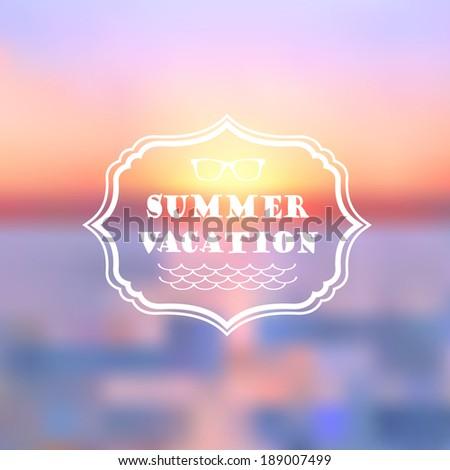 summer vacation abstract