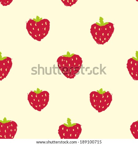 hand drawn strawberry seamless
