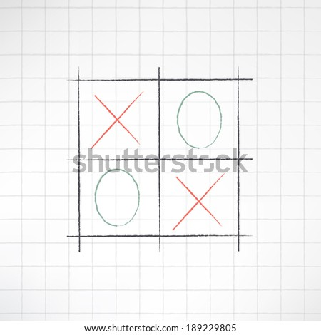sketch tic tac toe icon made in