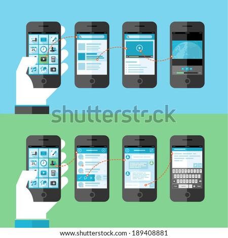 flat design concept for smart