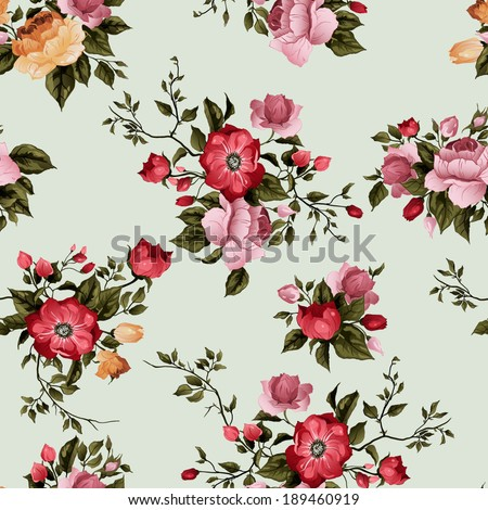 seamless floral pattern with of