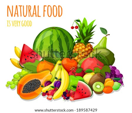 natural organic fruits and