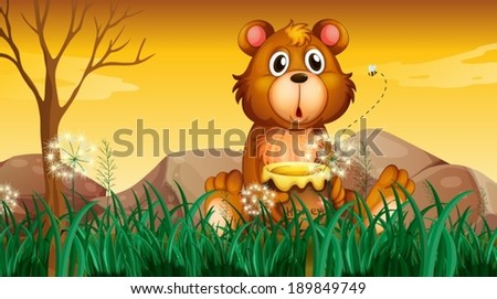 illustration of a cute bear