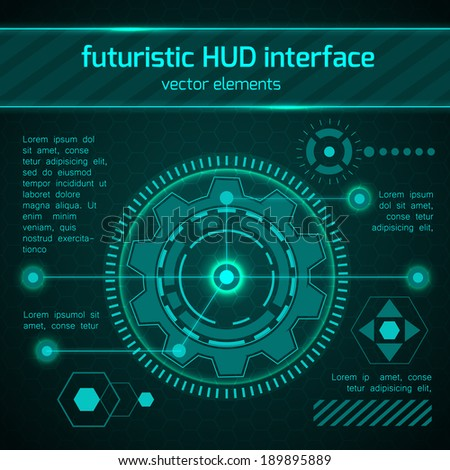futuristic hud interface