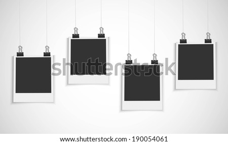 blank photo frame hanging on a