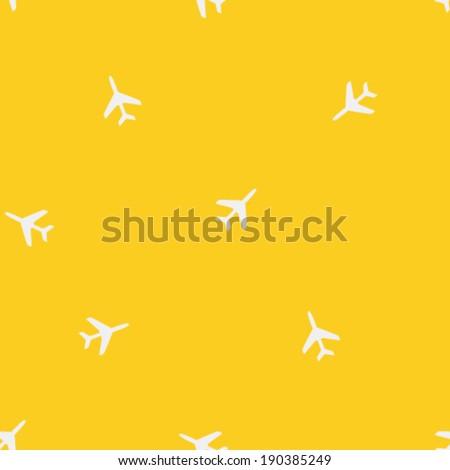 airplane silhouette seamless
