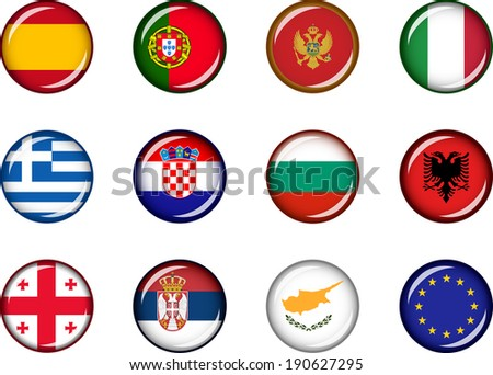 flag icons of europe 3 vector