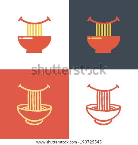 plate with noodles and happy