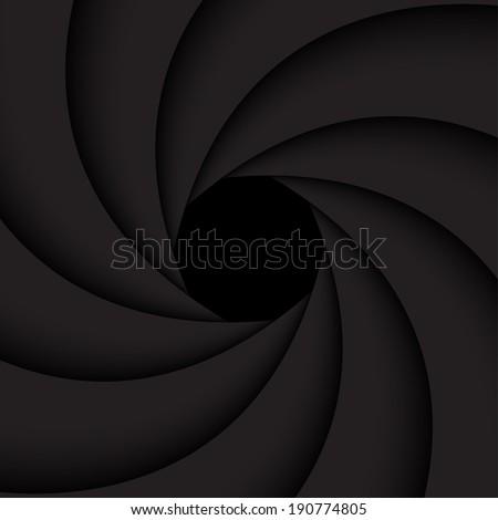 black shutter aperture   vector