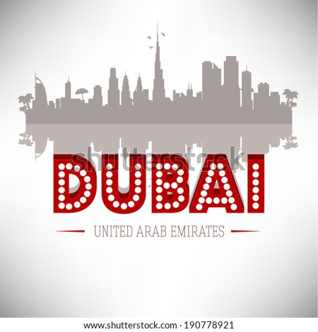 dubai uae  skyline design