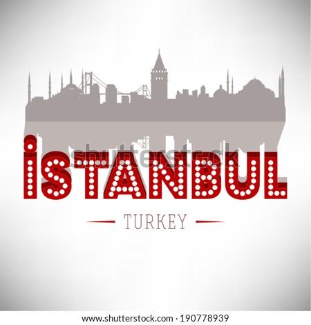 istanbul turkey skyline design