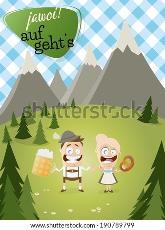 bavarian background with