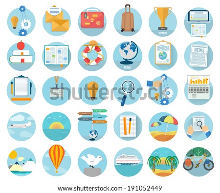 icons set of traveling