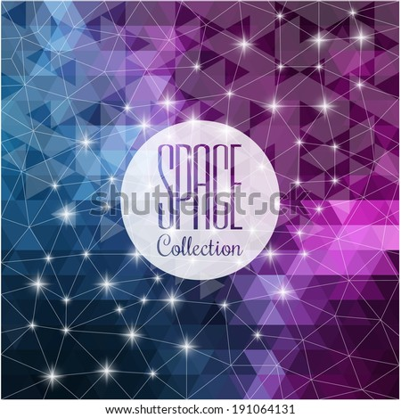 space collection vibrant night