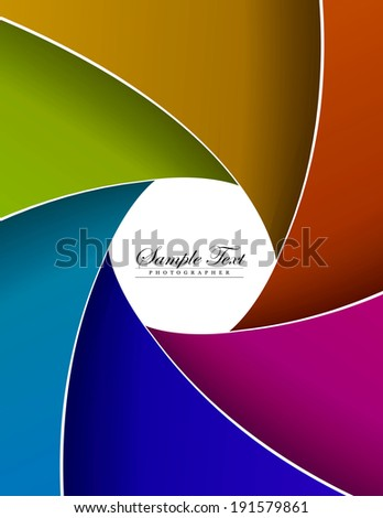 abstract color aperture blades