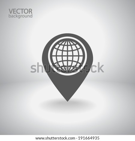 map pointer flat icon  vector