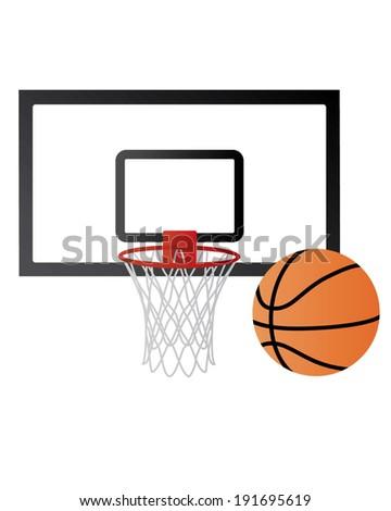 basketball net set   vector