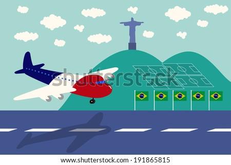 france air plane arrival brazil