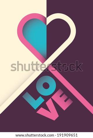 minimalistic love poster design