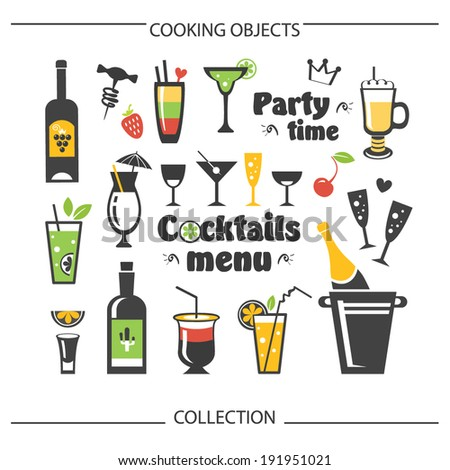 cocktails menu set