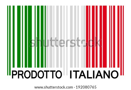 bar code   prodotto italiano