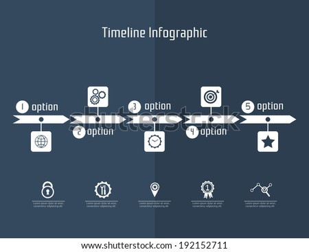 timeline infographic on dark