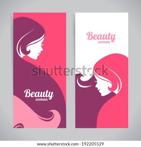 banners with stylish beautiful