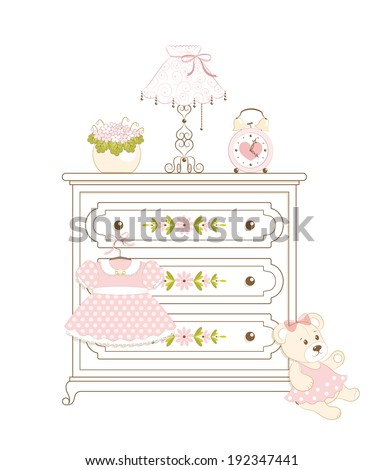white cute clothes press with