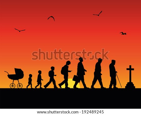 time passing  vector concept