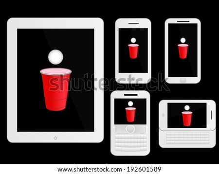 mobile devices with beer pong