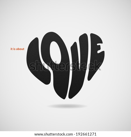 it is about love vector