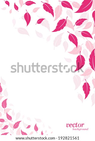abstract pink leaf background