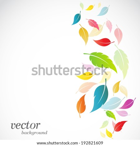 leaves design on white
