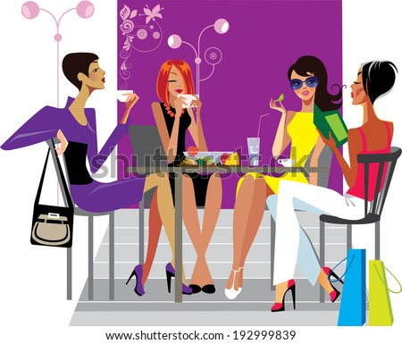 Ladies lunch clip art car interior design for Lunch entre amis