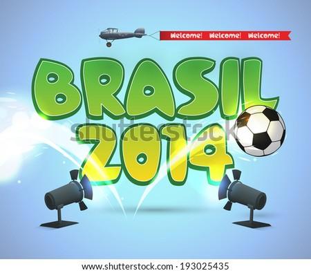 brasil soccer design eps10