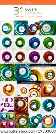 mega set of swirl circles